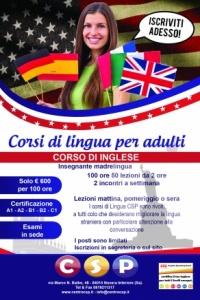 Corso di inglese per adulti